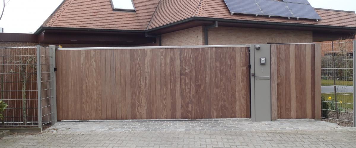 houten schuifpoort
