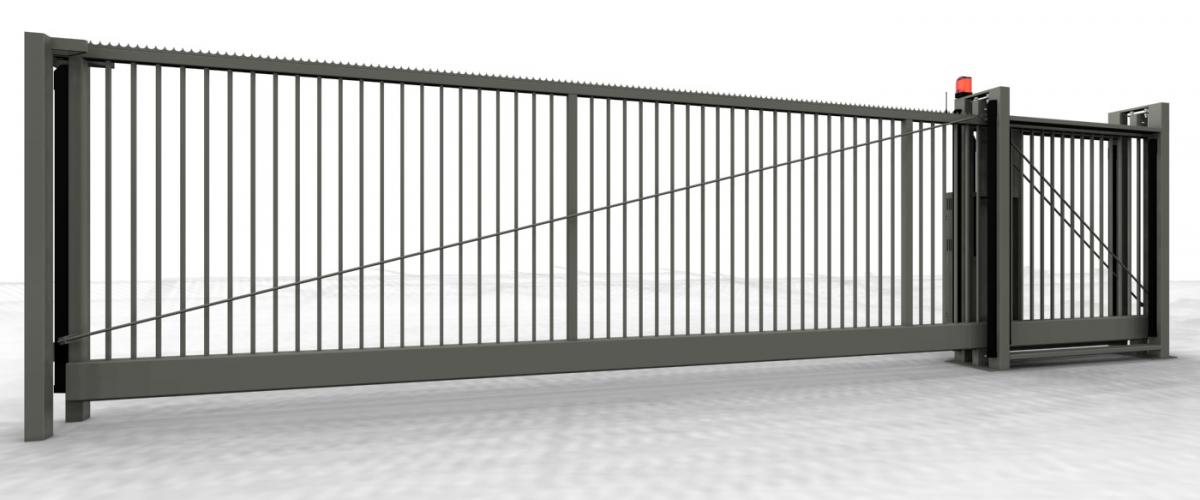 portail coulissant autoportant junior jusqu 39 une ouverture de 8m noyez. Black Bedroom Furniture Sets. Home Design Ideas
